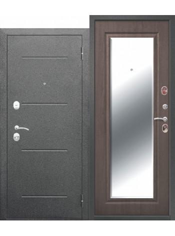 Дверь 7,5 Гарда Серебро Зеркало Фацет Венге