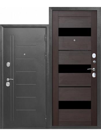 Дверь 10 Троя Серебро Темный Кипарис