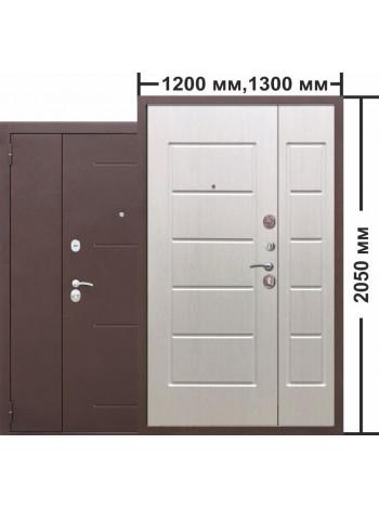 Дверь 7,5 Гарда двухстворчатая Белый Ясень