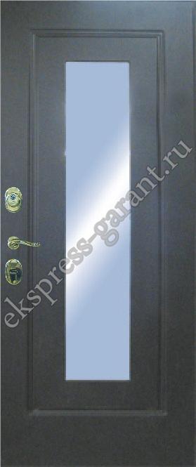 металлическая дверь 2200 с зеркалом